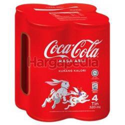 Coca-Cola Rasa Asli Can 4x320ml