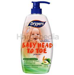 Drypers Baby Head to Toe Avocado 750ml