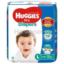 Huggies Dry Tape Baby Diaper L60