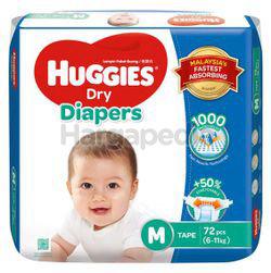 Huggies Dry Tape Baby Diaper M72