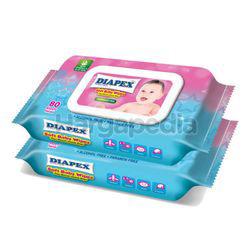 Diapex Soft Baby Wipes 2x80s