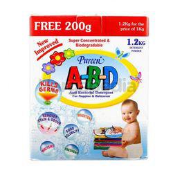 Pureen A-B-D Detergent Powder 1kg extra 200gm
