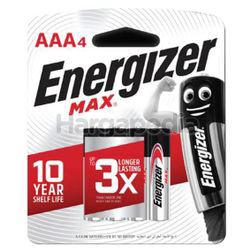 Energizer Max Alkaline Battery 4AAA