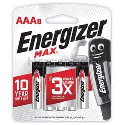 Energizer Max Alkaline Battery 8AAA