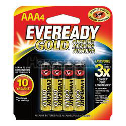 Eveready Gold Alkaline Battery 4AAA