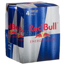 Red Bull Blue Silver Energy Drink 4x250ml