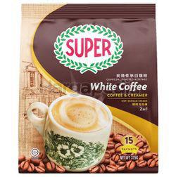 Super 2in1 Charcoal Roasted White Coffee Coffee & Creamer 15x25gm