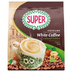 Super 3in1 Charcoal Roasted White Coffee Hazelnut 15x36gm