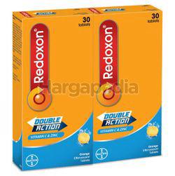 Redoxon Double Action Vitamin C & Zinc Effervescent Orange 2x30s