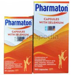 Pharmaton Capsules with Selenium 100s + 30s