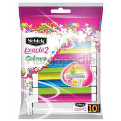 Schick Exacta 2 Colours Disposable Razors 10s