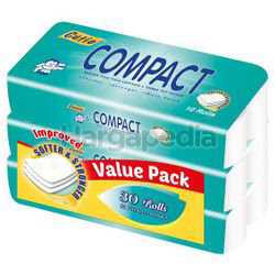 Cutie Compact Toilet Roll 3x10s
