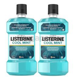 Listerine Cool Mint Mouth Rinse 2x750ml