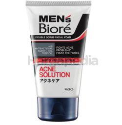 Biore Men's Double Scrub Acne Solution Facial Foam 100gm