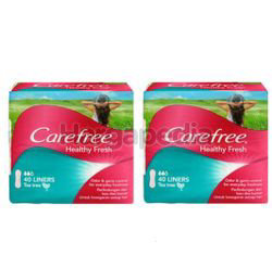 Carefree Healthy Fresh Pantyliner 2x40s