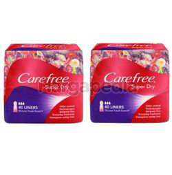 Carefree Super Dry Pantyliner Scented 2x40s
