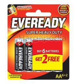 Eveready Super Heavy Duty 6AA FOC 2s