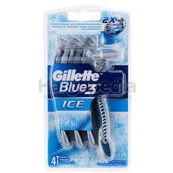 Gillette Blue 3 Ice Disposable Razor 4s