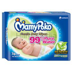 Mamy Poko Baby Wipes Anti Bacterial Fragrance Free 76s