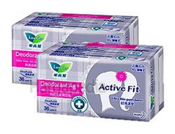 Laurier Active Fit Deodorant Ag+ Pantyliner 2x36s