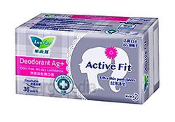 Laurier Active Fit Deodorant Ag+ Pantyliner 36s