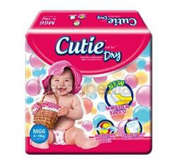 Cutie Dry Baby Diapers M66