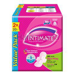 Intimate Cottony Surface Daylite Slim Wing 2x20s