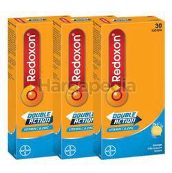 Redoxon Double Action Vitamin C & Zinc Effervescent Orange 3x30s