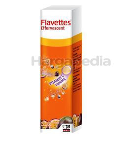 Flavettes Effervescent 1000mg Passion Fruits 15s