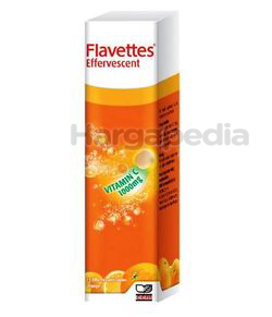 Flavettes Effervescent 1000mg Orange 15s