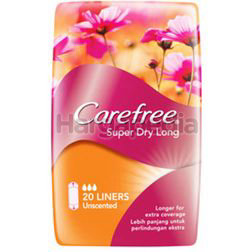 Carefree Super Dry Long Unscented Pantyliner 20s