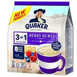 Quaker 3in1 Cereal Berry Burst 15x30gm