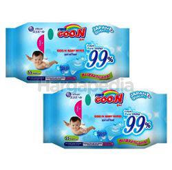 Goo.N Baby Wipes 2x55s