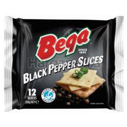 Bega Black Pepper Cheese Slices 200gm