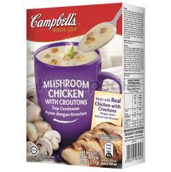 Campbell's Instant Soup Mushroom Chicken with Croutons 3x21gm