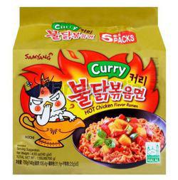 Samyang Hot Chicken Ramen Curry 5x140gm