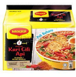 Maggi 2 minutes Noodle Kari Cili Api 5x79gm
