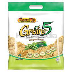 Snek Ku Grain 5 Snacks Green Pea 8x16gm