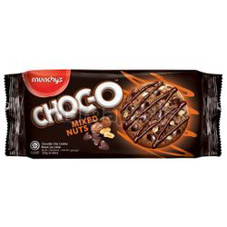 Munchy's Choc-O Cookies Mixed Nuts 125gm