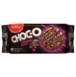 Munchy's Choc-O Cookies Double Choc 125gm