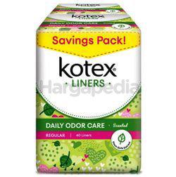 Kotex Fresh Daily Odor Care Pantyliner Regular Scented Daun Sirih 2x40s