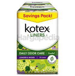 Kotex Fresh Daily Odor Care Pantyliner Longer & Wider Daun Sirih 2x32s