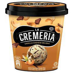 La Cremeria Ice Cream Vanilla Cashew Delight 750ml