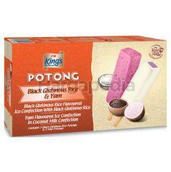 King's Potong Ice Cream Black Glutinous Rice & Yam 6x60ml
