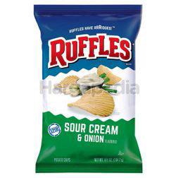Ruffles Potato Chips Sour Cream & Onion 184gm