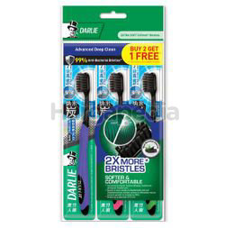 Darlie Charcoal Extra Toothbrush 2s+1s