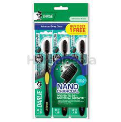 Darlie Charcoal Clean Regular Head Toothbrush 2s+1s