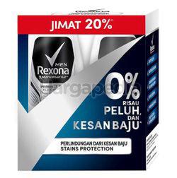 Rexona Men Deodorant Roll On Invisible Dry 2x50ml