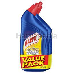 Harpic Active Cleaning Gel Lemon Zest 2x500ml