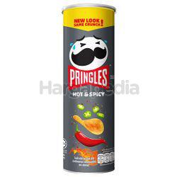 Pringles Potato Crisps Hot & Spicy 107gm